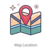 Standortmarkierung auf der Karte vektor