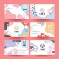 Visitenkarten mit Mobilfunk- und Pflanzenmotiven für Unternehmen vektor