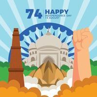 Geist und Freiheit des indischen Volkes vektor