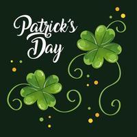 St. Patricks Day mit Klee vektor