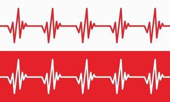 Herzschlaglinie Illustration Pulsspur EKG oder Ekg Cardio-Graph-Symbol für gesunde und medizinische Analyse-Vektor-Illustration vektor