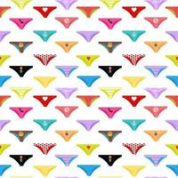 mehrfarbige Slips Hosen Kollektion nahtlose Muster Hintergrund vektor