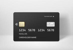 moderne VIP-Bankkarte mit Weltkarten-Vektormodell vektor