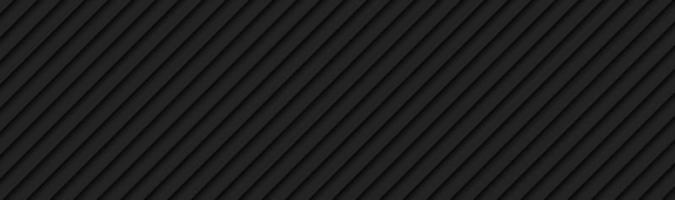 schwarze Technologie abstrakte Streifen Header dunkelmetallisch geometrische Bannerdesign-Vektorillustration vektor