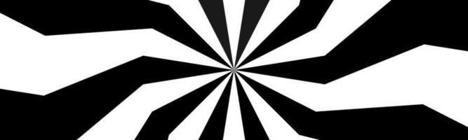 Schwarz-Weiß-Spiralkopf wirbelnde radiale Banner abstrakte Vektorillustration vector