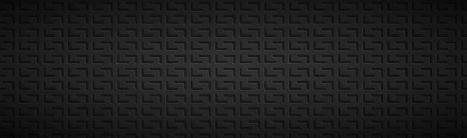 abstrakter geometrischer Technologiekopf abstrakter schwarzer metallischer Edelstahlfahnenvektorillustrationshintergrund vektor