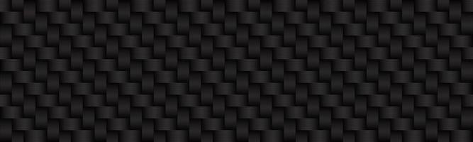 Carbon schwarz und grau abstrakte Header moderne metallische Edelstahl-Look Banner nahtlose Muster Hintergrund Vektor-Illustration vektor