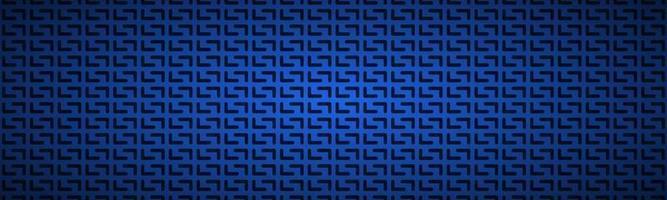 blaue geometrische perforierte Überschrift abstrakte dunkelblaue metallische Edelstahlfahnenvektorillustration vektor