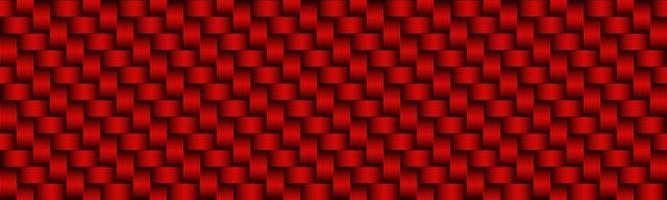 Red Carbon abstrakte Header moderne metallische Edelstahl-Look-Banner nahtlose Muster Hintergrund Vektor-Illustration vektor