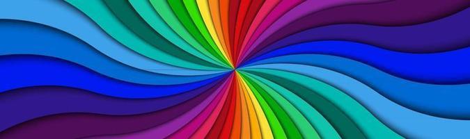 Farbspirale Header hell bunt wirbelnde radiale Muster Banner abstrakte Vektorillustration vektor
