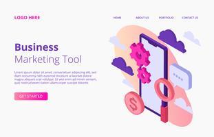 Geschäfts-Marketing-Landungs-Seite vektor