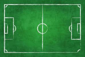 Realistische Illustration Fußball- oder Fußballplatz auf Tafel Textur Hintergrundbild für das Konzept des internationalen Weltmeisterschaftsturniers 2018 vektor