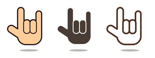 Handsprache Ich liebe dich Cartoon-Grafik-Vektor vektor