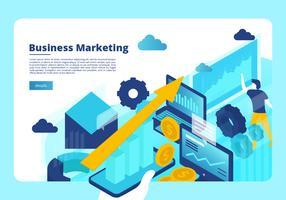 Business-Marketing Banner Vektor Vorlage