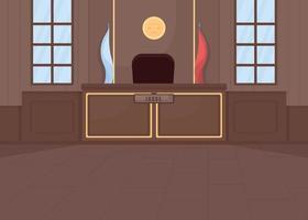 Oberstes Gerichtsgebäude flache Farbvektorillustration court vektor