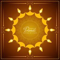 Abstrakter glücklicher Diwali-Vektorhintergrund vektor