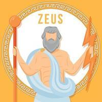 Zeus Orange Social-Media-Beitragsmodell vektor