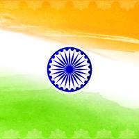 Abstrakt indisk flagg tema akvarell design bakgrund