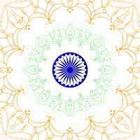 Abstrakter indischer Flaggenthema-Designhintergrund vektor