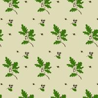 Eichel-Baum-Muster vektor