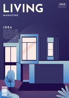 Lebendes Zeitschriften-Abdeckungs-Vektor-Design