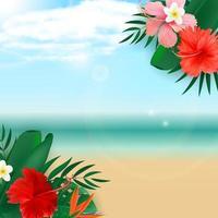 abstrakter leerer natürlicher exotischer tropischer Hintergrund. kann als Posterverkauf, Anzeigen oder Karte verwendet werden vektor