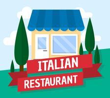 Italiensk restaurang vektor