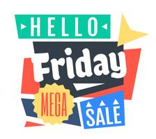 Fredag Mega Sale vektor