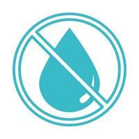 Wassertropfen verbotene Natur Flüssigkeit blaue Silhouette Stilikone vektor