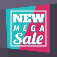Ny Mega-försäljning vektor