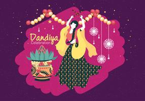 Dandiya Och Garba Posters Vol 2 Vektor