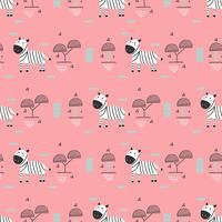 Kindisch Zebra Vektor