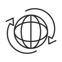 Symbol für den weltweiten Verbindungslinienstil vektor