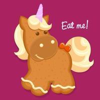 Pferdelebkuchenplätzchen Winterurlaub Essen vektor