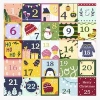 advent kalender vektor
