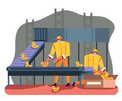 Fabriksarbetare vektor