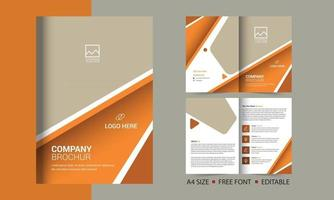 Corporate Bifold Broschüre Vorlage Katalog Broschüre Vorlage und vollständig bearbeitbar vektor