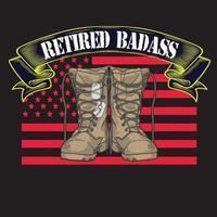 usa veteran boot armee flagge vektor