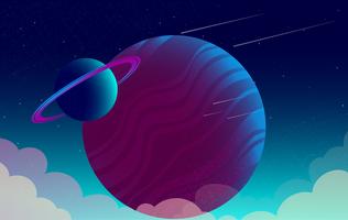 Vektor-schöne Fantasie-Landschaftsillustration vektor