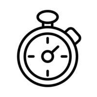 Timer-Chronometerlinie und Füllsymbol vektor