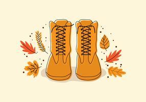 Ein Stiefel im Herbst vektor