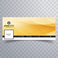 Elegantes Facebook Timeline Cover Template Design vektor