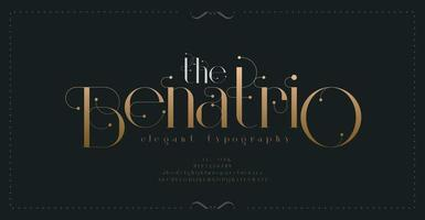 Luxus-Vintage-Schrift vektor