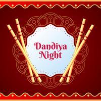 Kreativ affisch eller flygblad av Dandiya inbjudningskort bakgrund vektor