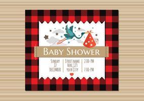 Buffalo Plaid Baby-Duscheeinladung