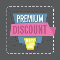 Premium Rabatt vektor