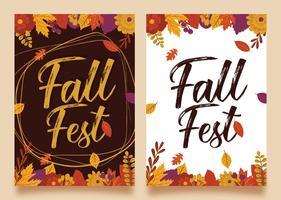 Herbst Fest Flyer Vektor Design