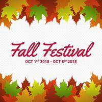 Fall Festival säsongsmässiga hösten löv ram bakgrund