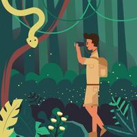 Dschungel-Forscher-Vektor-Design vektor