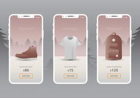 Fall Boots och Fashion Shopping Application